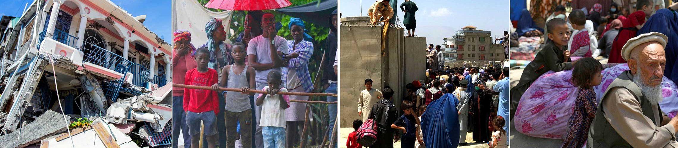 Preghiamo per Haiti e l'Afghanistan